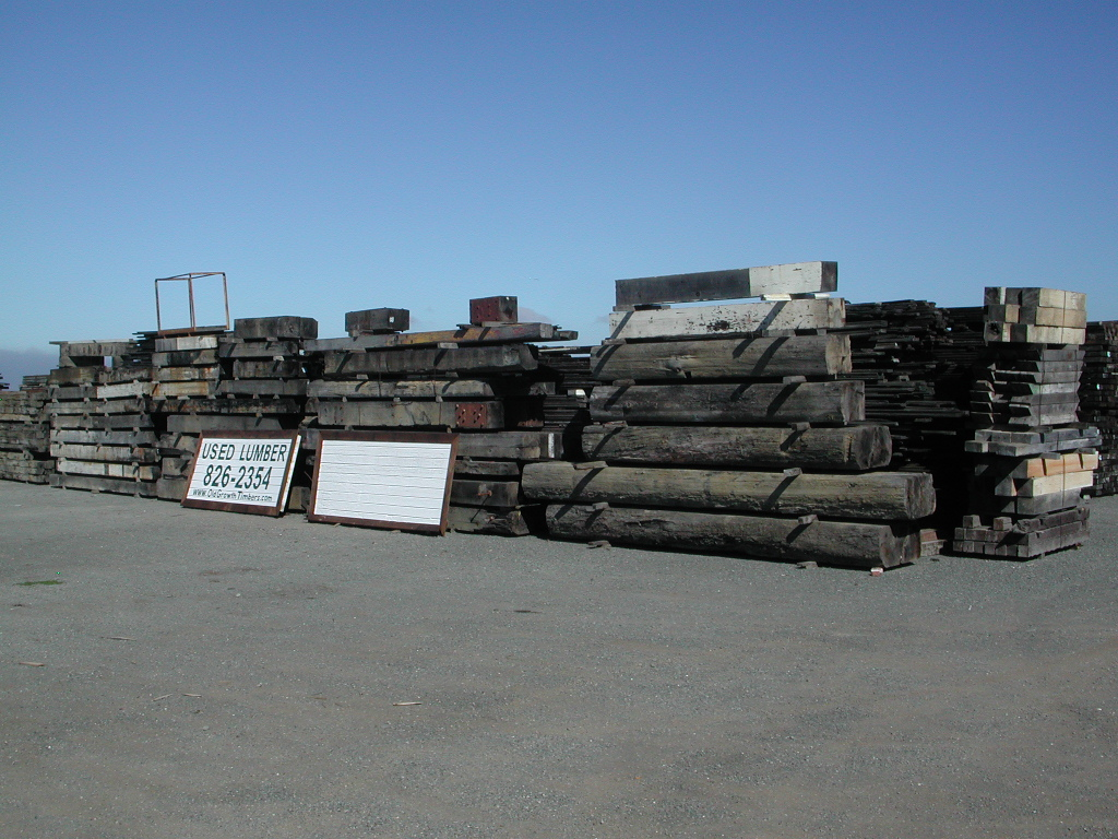 Antique reclaimed redwood barnwood timbers yard for Buy reclaimed wood san francisco